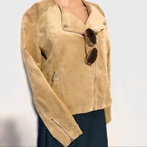 Light Tan H&M Suede Leather Jacket